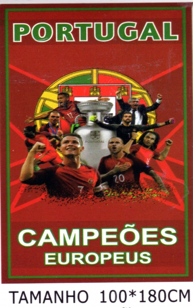 CAMPEOES EUROPEUS Portugal  Badetuch / Strandtuch