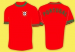 HERREN* FAN T-SHIRT* PORTUGAL* ROT M_1